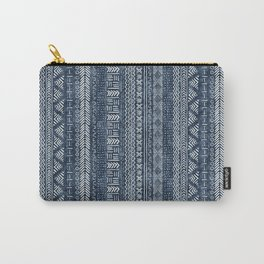 Mud Cloth Stripe Carry-All Pouch