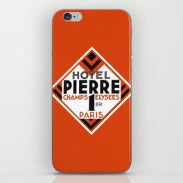 Hotel Pierre Paris Art Deco iPhone Skin