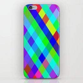 Checkered Colour - Geometric, Colour, Checkered Pattern iPhone Skin