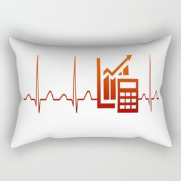 ACCOUNTANT HEARTBEAT Rectangular Pillow