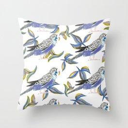 Parakeet pattern Throw Pillow