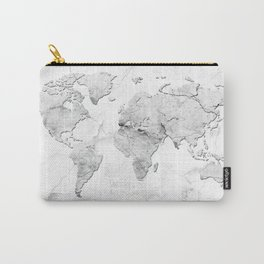 world map marble Carry-All Pouch