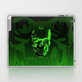 Gamer Skull CARTOON GREEN / 3D render of cyborg head Laptop & iPad Skin