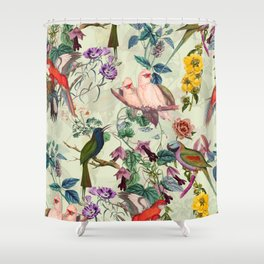 Floral and Birds VIII Shower Curtain
