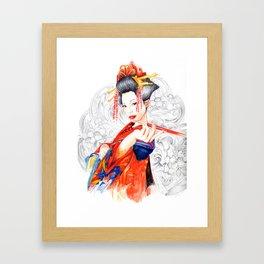 Geisha - Sakuran Framed Art Print