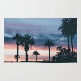 Palm Tree Sky Sunset Rug