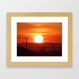 Sun on The Rise Framed Art Print