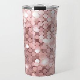 Rose gold glitter Travel Mug