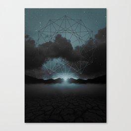 Beyond the Fog Lies Clarity   Midnight Canvas Print