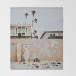 lets surf v / san diego, california Throw Blanket