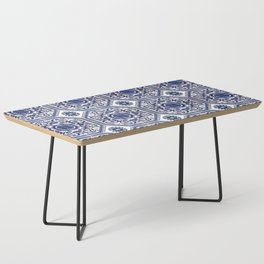 Portuguese Tiles Azulejos Blue and White Pattern Coffee Table