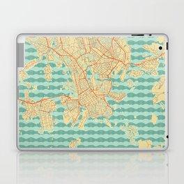 Helsinki Map Retro Laptop & iPad Skin