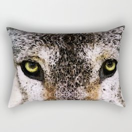 Wolf Eyes - Animal Art By Sharon Cummings Rectangular Pillow