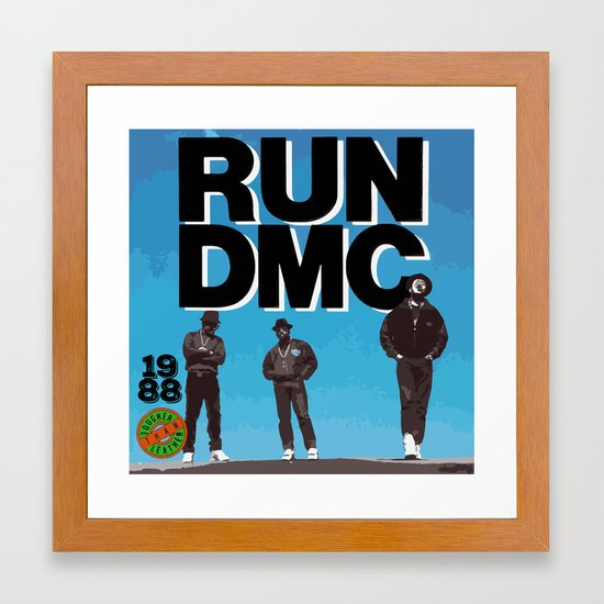 RUN-DMC-1988 Framed Art Print