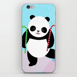 Candy Cane Panda iPhone Skin