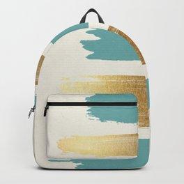 Brush Strokes (Teal/Gold) Backpack