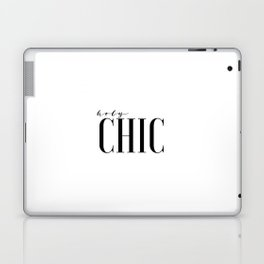 Printable Wall Art Fashion Art Fashion Girl Fashionista Holy Chic Girls Room Print Black And White Laptop & iPad Skin