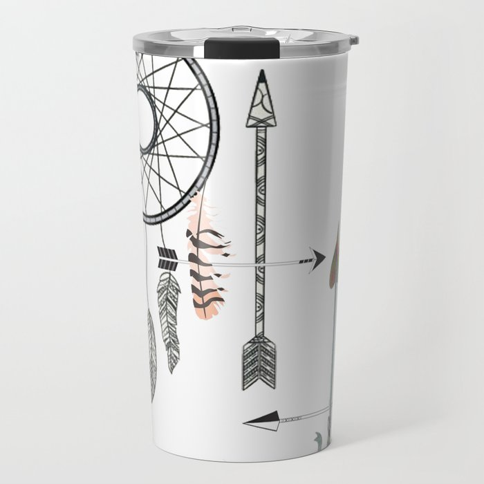 Native American Dream Catchers Arrows Travel Mug