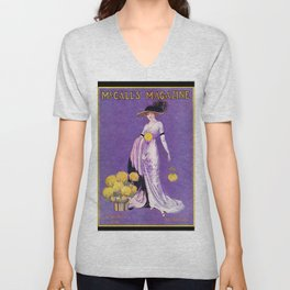 Vintage Lady from 1912 Unisex V-Neck