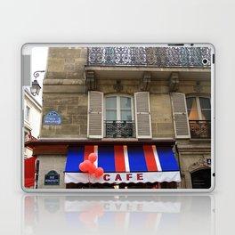 Red Balloons at Café Bonaparte Laptop & iPad Skin