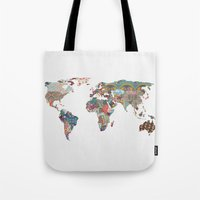 ariana grande Tote Bags featuring Louis Armstrong Told Us So by Bianca Green