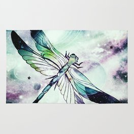 space dragonfly Rug