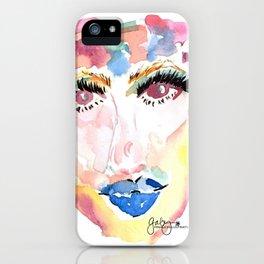 Watercolor Girl iPhone Case