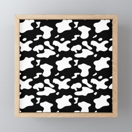 Cow Pattern | Cow Spots Farm Farmer Animal Milk Framed Mini Art Print