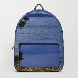 Rain on Yellowstone Lake Backpack