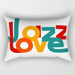Love Jazz (on a white background) Rectangular Pillow
