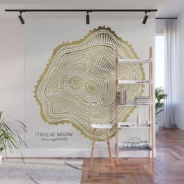 Peachleaf Willow – Gold Tree Rings Wall Mural