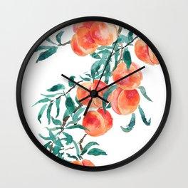peach watercolor Wall Clock