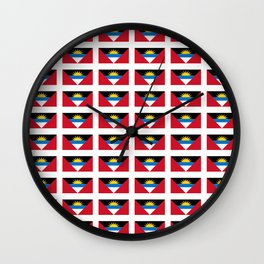 flag of Antigua and barbuda -antiguan,barbudan,caribean,antilles,Saint John,madeiran Wall Clock