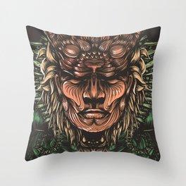 Feline human Throw Pillow