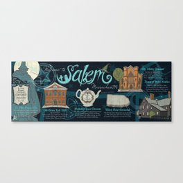 Map of Salem, Massachusetts Canvas Print