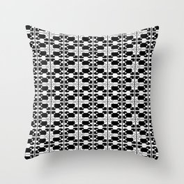 BW-pattern 3 Throw Pillow