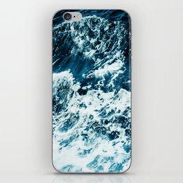 Disobedience - ocean waves painting texture iPhone Skin