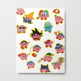 Kirby is swallowing everyone in here. Metal Print