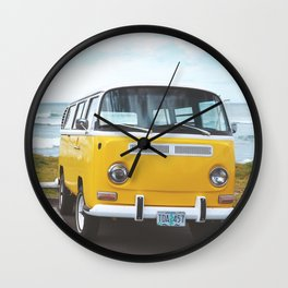 Combi yellow beach Wall Clock