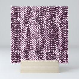 Hand Knit Plum Mini Art Print
