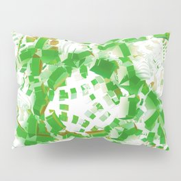 Green industrial abstract Pillow Sham