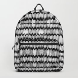 Abstract Wavy Black and White Pattern Backpack
