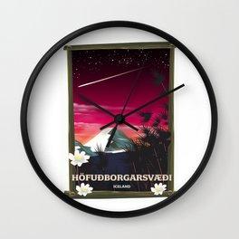 Höfuðborgarsvæði Iceland Wall Clock