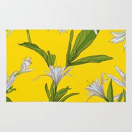 Flowers Lilies Rug