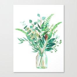 greenery in the jar Canvas Print