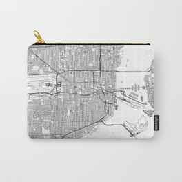 Miami White Map Carry-All Pouch