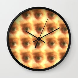 Creepy cartoon eyes pattern Wall Clock