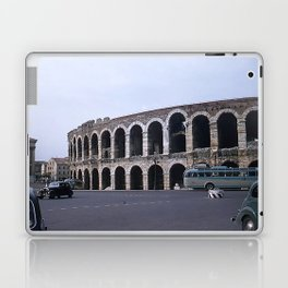 Vintage Color Photo * Verona Arena * Italy * 1950's * Antique Cars * Bus *Italian Laptop & iPad Skin
