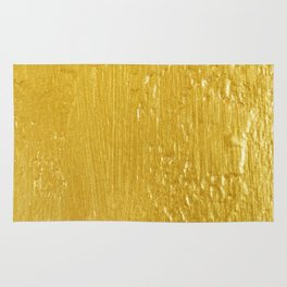 Luxury Solid Gold Paint Texture Rug