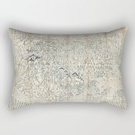 First Japanese Buddhist World Map showing Europe, America and Africa - print from 1710 Rectangular Pillow